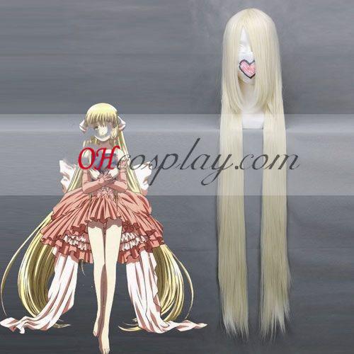 Chobits Chii Luz amarilla cosplay peluca