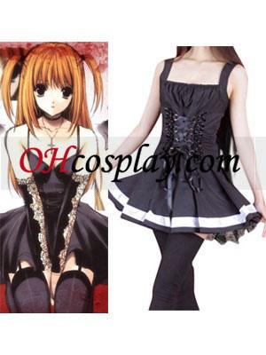 Death Note Misa Amane negro vestido cosplay