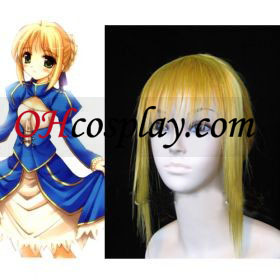 Fate Stay Night Saber comisión cosplay peluca