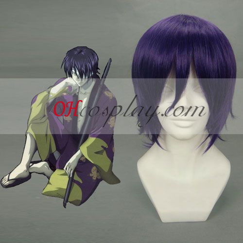 Gintama Takasugi Shinsuke púrpura peluca Cosplay
