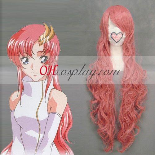 Gundom Seed Lacus Clyne Pink Cosplay Wave Wig
