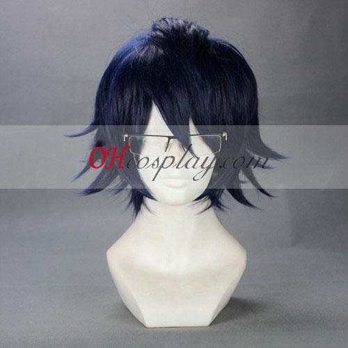 K Fushimi Salomuko Dark Blue Cosplay Wig