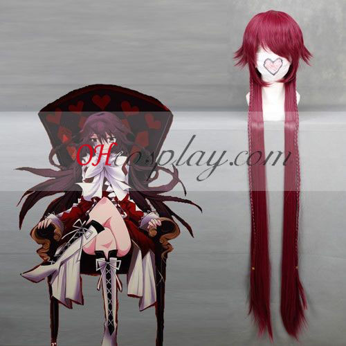 Pandora Hearts B-rabbit Alice Wine Red Cosplay Wig
