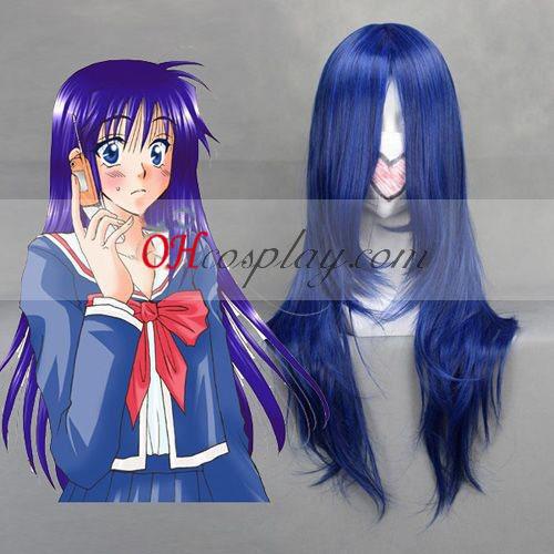 Shugo rengjøringen Fujisaki Nagihiko mørk blå Cosplay parykk