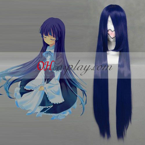 Umineko Frederica Bernkastel Dark Blue Cosplay Wig