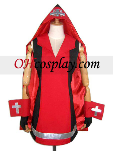 Guilty Gear Bridget Red Cosplay Costume