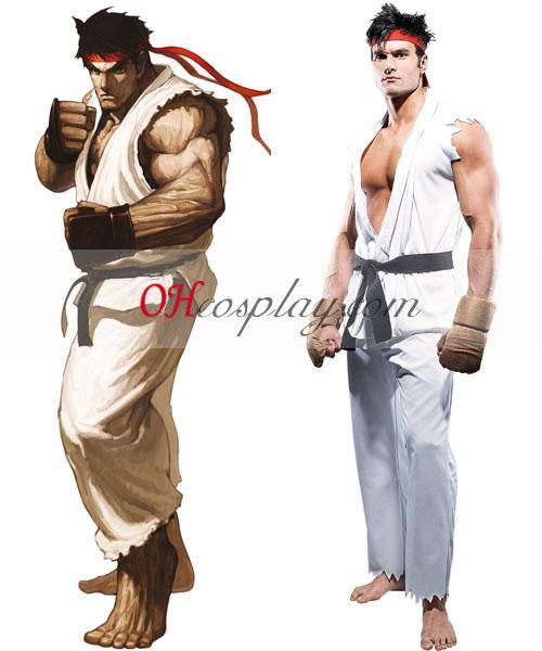 Street Fighter Ryu Voksen Cosplay kostyme