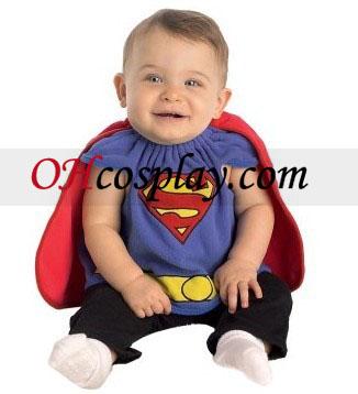 Superman traje recién nacido Bib