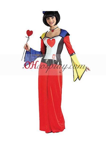Alice in Wonderland Bold Teen Queen of Hearts Cosplay Costume