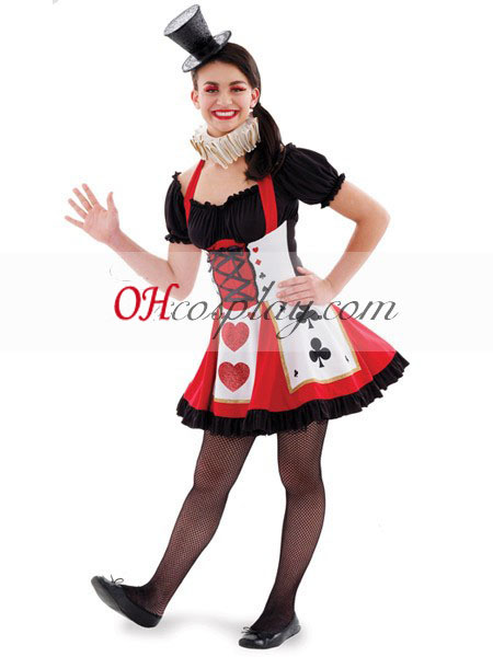 Alice in Wonderland Pretty Playing Card Teen Cosplay Costume