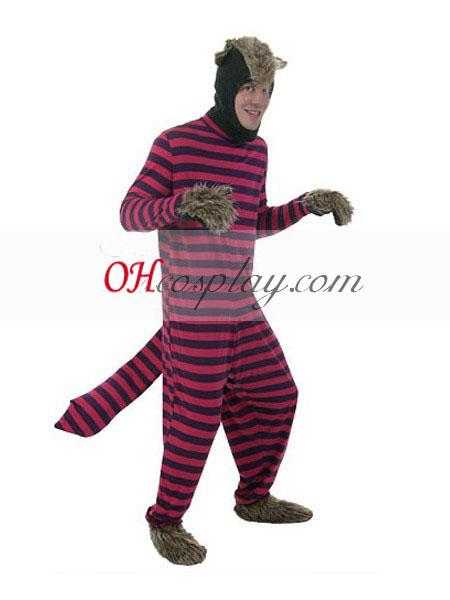 Alice in Wonderland Cheshire Cat Man's Adult Cosplay Costume