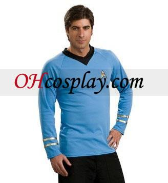Star Trek Classic Blue Shirt Deluxe Adult Costumes