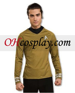 Star Trek Movie (2009) Grand Heritage Oro camisa del traje adulto