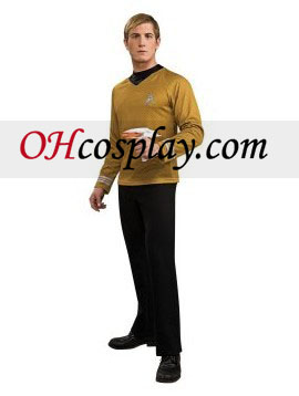 Star Trek Movie (2009) Oro camisa del traje adulto