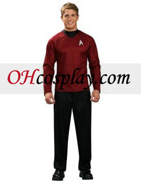 Star Trek Movie (2009) Red Shirt Deluxe Adult Traje