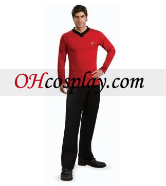 Star Trek Classic Shirt Red Deluxe Adult Traje