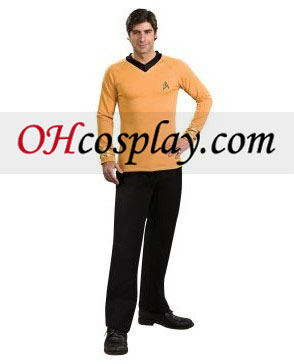 Star Trek Classic Gold Shirt Deluxe Adult Traje