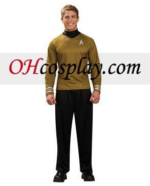 Star Trek Movie (2009) Oro Shirt Deluxe Adult Traje
