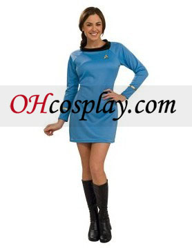 Star Trek Classic Blue Dress Traje Deluxe Adult