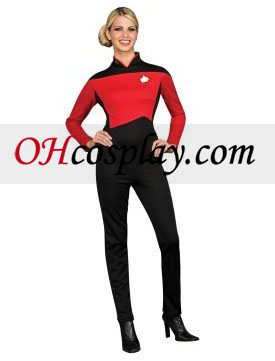 Star Trek Next Generation Red Jumpsuit Deluxe Adult Traje