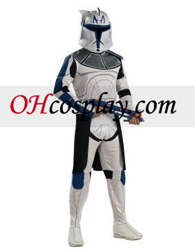 Star Wars Animated Clone Trooper Líder Rex Traje Adulto