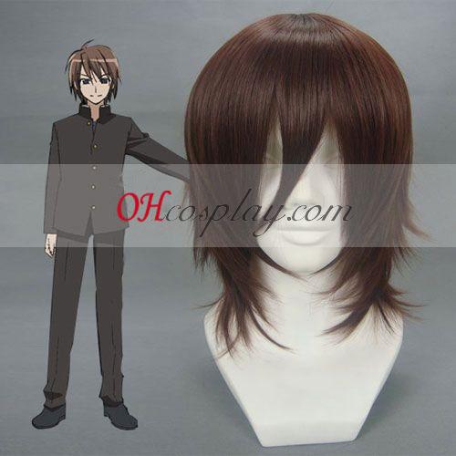 Shakugan no Shana Ogata Matake Dark Brown Cosplay Wig