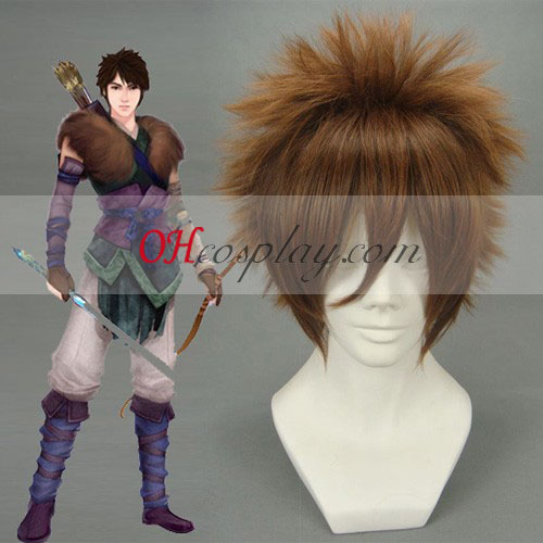 Chinese Paladin 4 Yun tianhe Brown Cosplay Wig