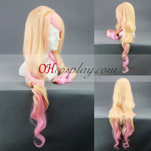 Macross Frionter Sherly Nome Yellow&Pink Cosplay Wig