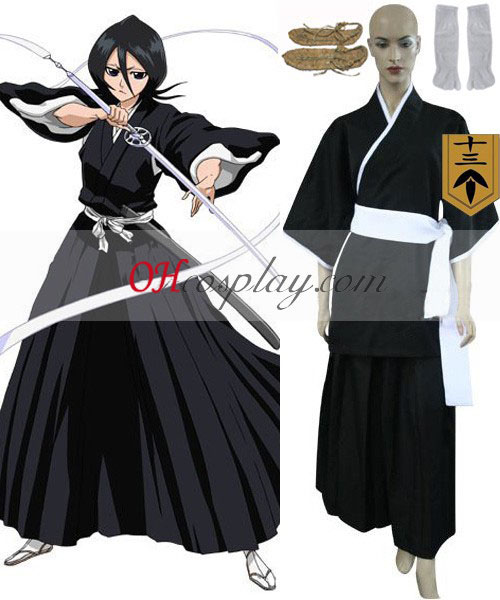 Bleach 13th Division Lieutenant Kuchiki Rukia Cosplay Costume