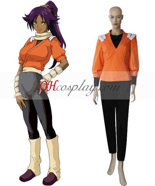 Bleach Yoruichi Shihoin Orange Cosplay Costume
