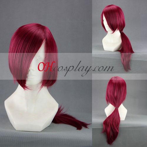 Brave10 Yuri Kamanosuke Wine Red Cosplay Wig