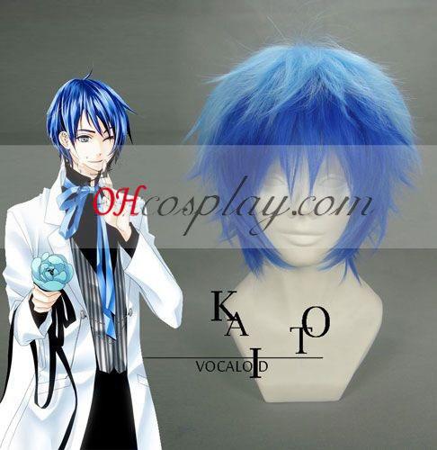 Vocaloid Kaito lys&mørk blå Cosplay parykk
