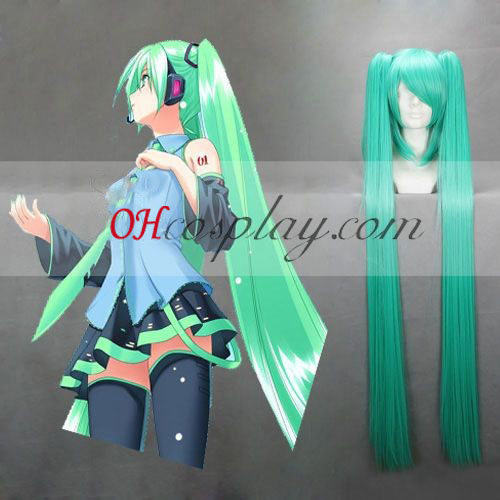 Vocaloid Miku Green Blue Cosplay Wig