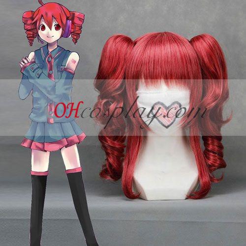 Vocaloid Teto vino rojo cosplay peluca