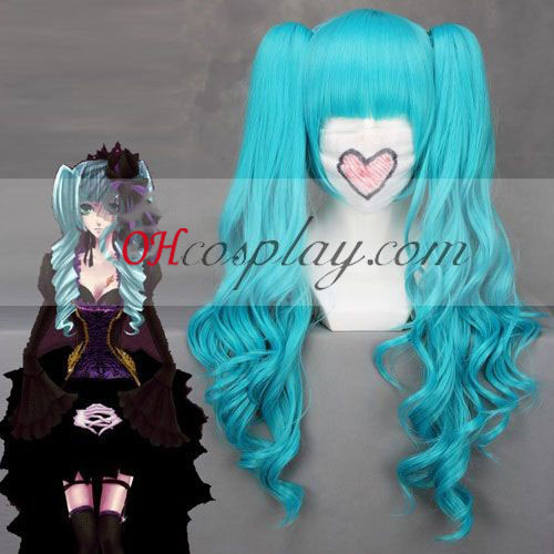 Vocaloid Miku completa Bangs azul cosplay peluca