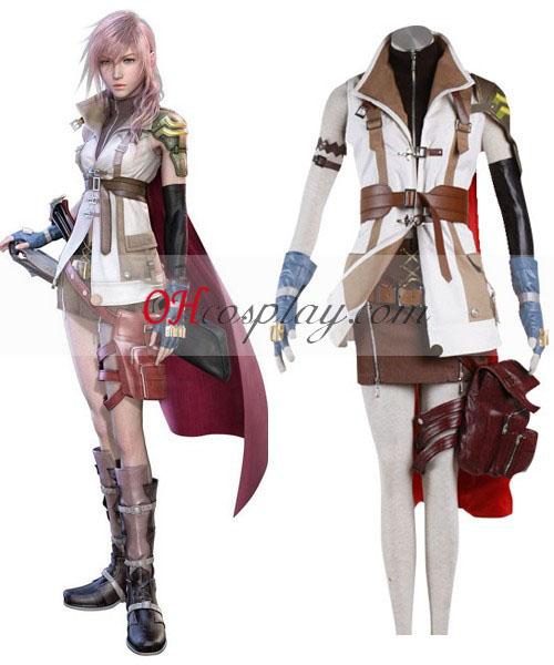 Final Fantasy XIII ukkosen Cosplay asu (Deluxe-Design)