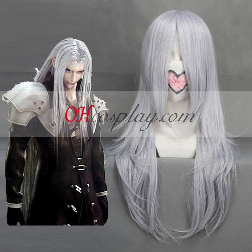 Final Fantasy VII Sephiroth White Cosplay Wig