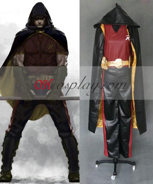 Batman Arkham City Robin Cosplay Costume : -Cosplaymade