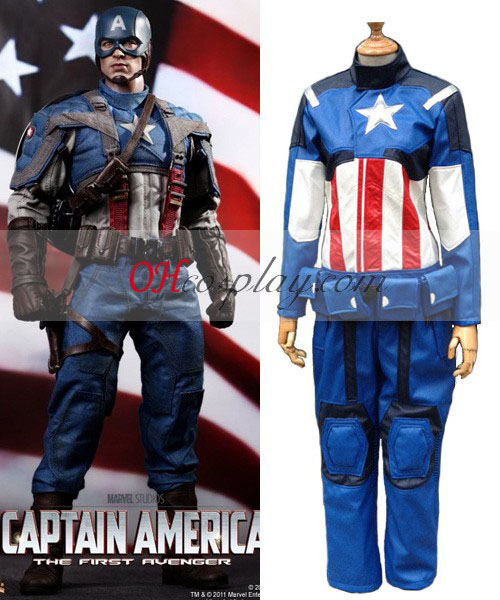 Captain America Leather Cosplay Costume
