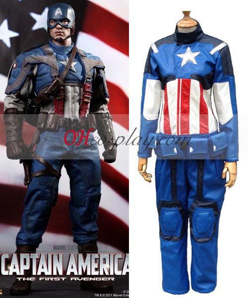 Capitán América cuero cosplay