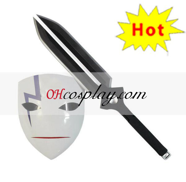 Darker Than Black Cosplay Accessories Hei's Mask & Sword(Deluxe Edition)