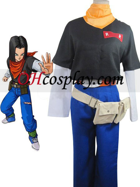 Dragon Ball Andriod Uniform klut Rolle ull Fabric kostyme