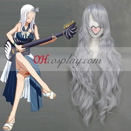 Fairy Tail Mirajane Silvery White Cosplay Wave Wig