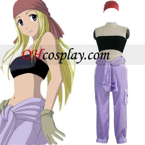 Fullmetal Alchemist Winry Rockbell Working Cosplay Costume