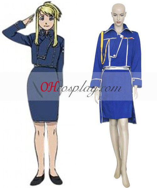 Fullmetal Alchemist Winry Rockbell Military Cosplay Costume