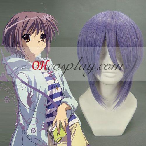 Haruhi Suzumiya Nagato Yuki Light Purple Cosplay Wig