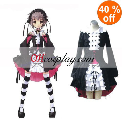 Haruhi Suzumiya Nagato Yuki Black Maid Cosplay Lolita Cosplay Costume