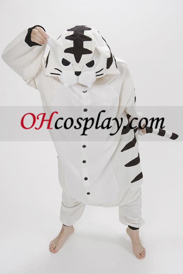 Biely Tiger Kigurumi kroj pyžamy