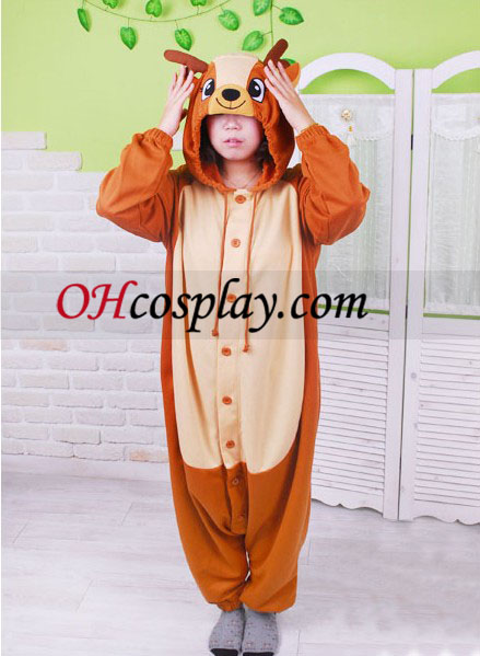Sladké jeleň sika Kigurumi kroj pyžamy