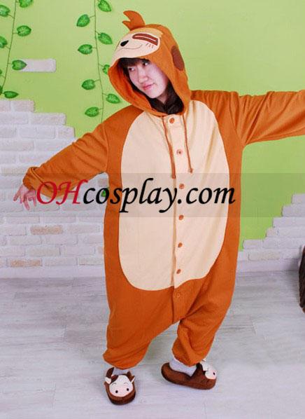 Lenivosť Mimi Monkey Kigurumi kroj pyžamy